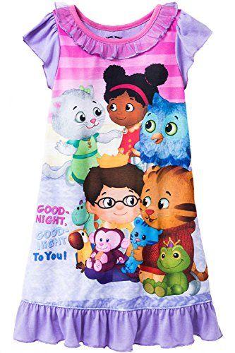 Daniel Tiger Girls Nightgown Pajamas #DanielTiger #GirlsNightgown #GirlsPajamas #CharacterSleepwear #Grrrrific #YankeeToyBox