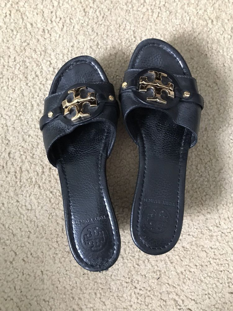 abe187f856a tory burch Patti wedge sandals 8  fashion  clothing  shoes  accessories   womensshoes