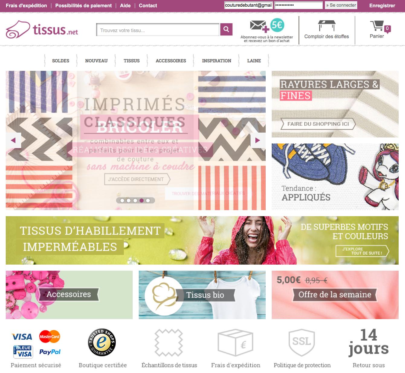5 sites pour acheter son tissu en ligne couture. Black Bedroom Furniture Sets. Home Design Ideas
