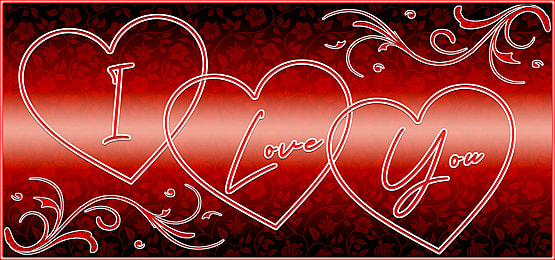 I Love You Background For Valentines Day Valentines Day Background Love Balloon Glowing Background