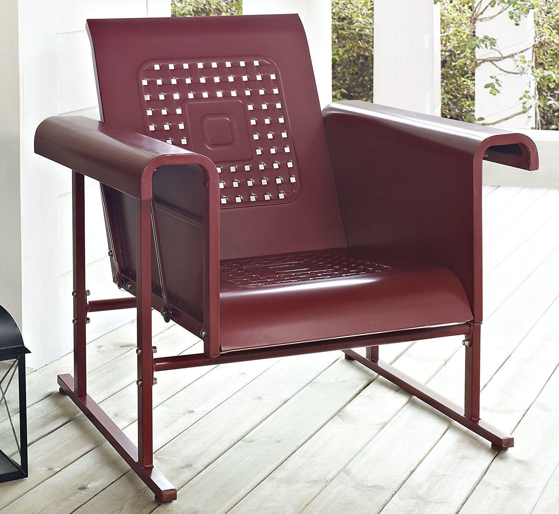 Amazon Crosley Veranda Single Glider Chair Coral Red