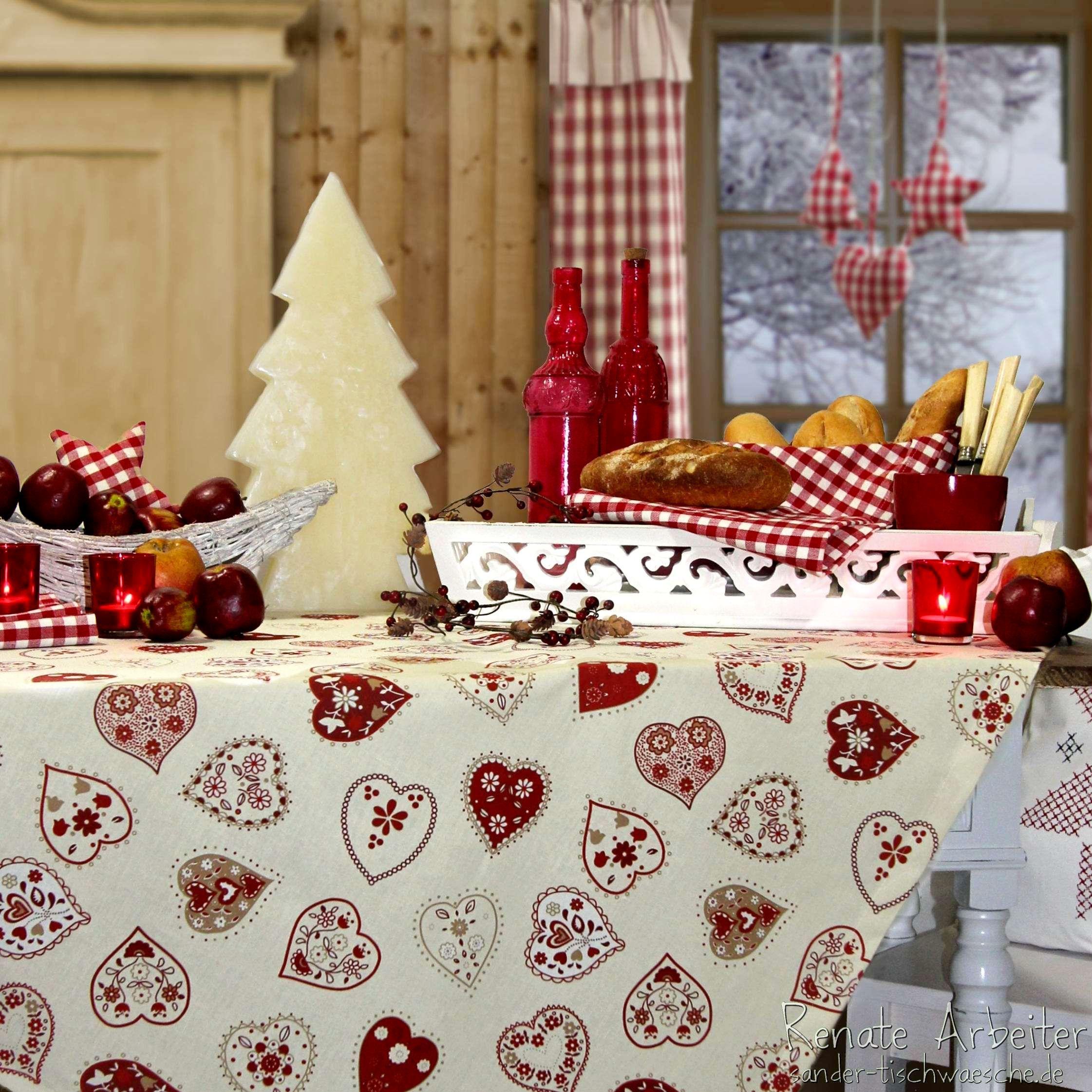 landhausweihnacht weihnachtstischdecke von sander bei sander weihnachten. Black Bedroom Furniture Sets. Home Design Ideas