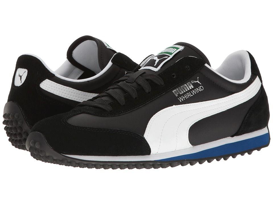 PUMA PUMA - WHIRLWIND CLASSIC (PUMA BLACK/PUMA WHITE/TRUE BLUE) MEN'S LACE UP CASUAL SHOES. #puma #shoes #