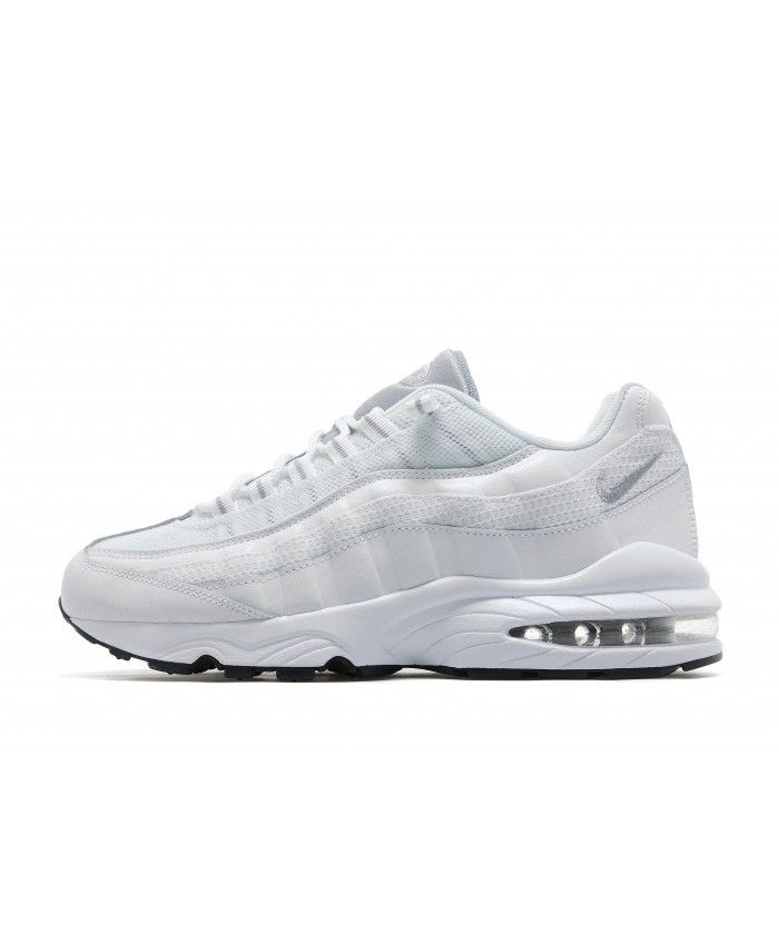 more photos a353a 36bbd Nike Air Max 95 Junior All White Trainers | air max 95 junior | Nike ...
