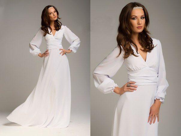 f0d12e914ab2f9a Белое платье в пол (длинное) (120 фото): летнее, шифоновое, с ...