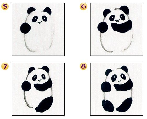 Sumi-e chinese ink painting panda tutorial | sumi-e in ...
