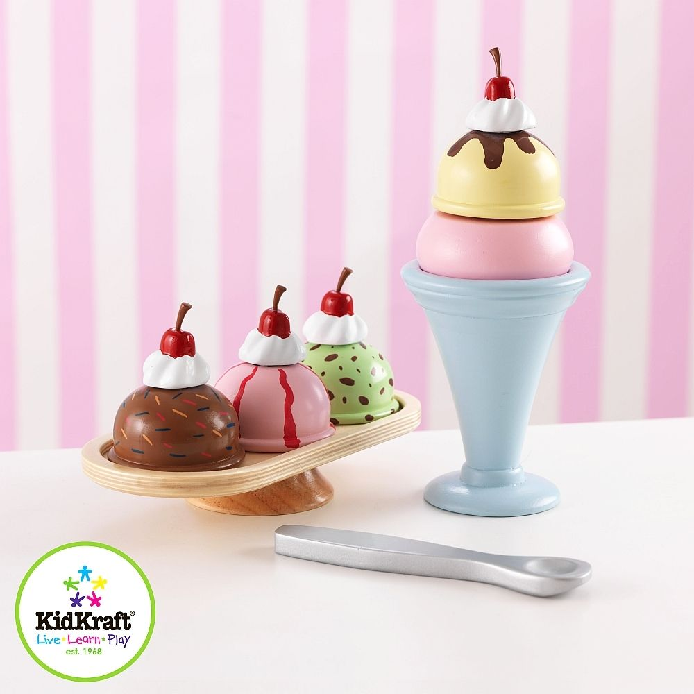 Owocowe Lody Zabawka Drewniana 63281 Kidkraft Zabawki Dla Dzieci Kuchnia Zielonezabawki Pl Ice Cream Sunday Ice Cream Sundae Play Ice Cream