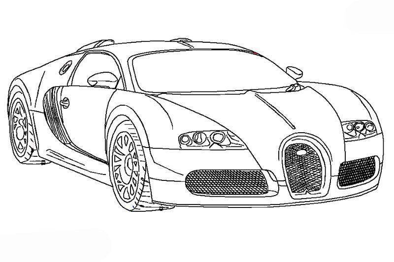 Ausmalbilder Autos Bugatti Veyron Bugatti Veyron Malvorlage Auto Ausmalbilder Zum Ausdrucken Auto Zum Ausmalen