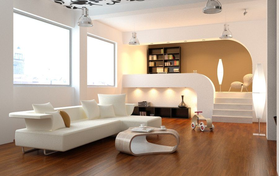 Living Rooms Show Range of Modernist to Traditional: Curvilinear ...