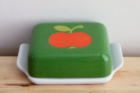 West German Apple Butter Dish  Waechtersbach door KitchenCulinaria