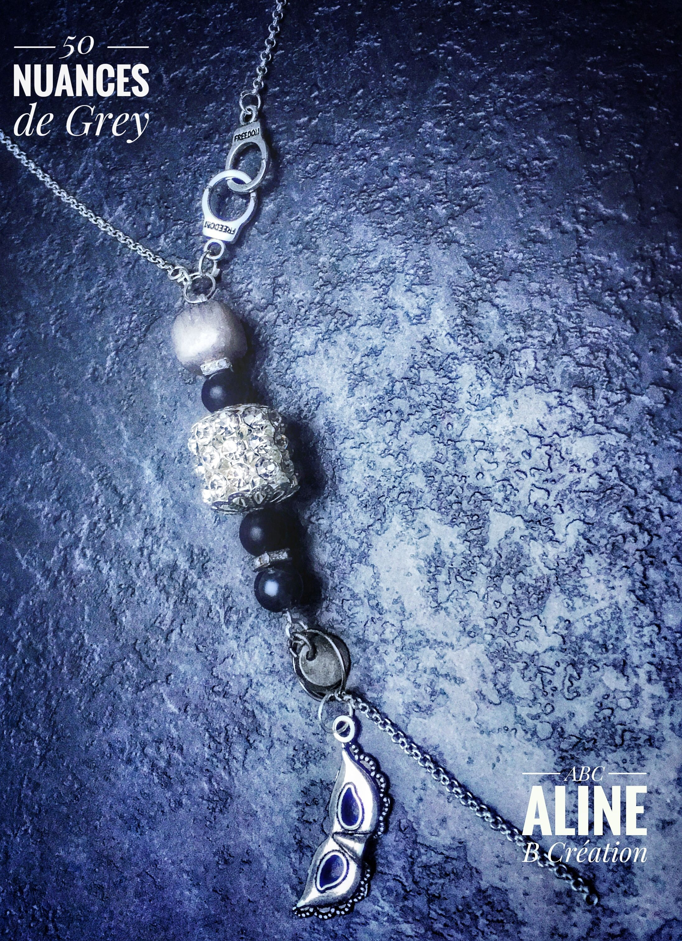 bijoux 50 nuances de Grey... 50 shades of Grey.. necklace.. sautoir