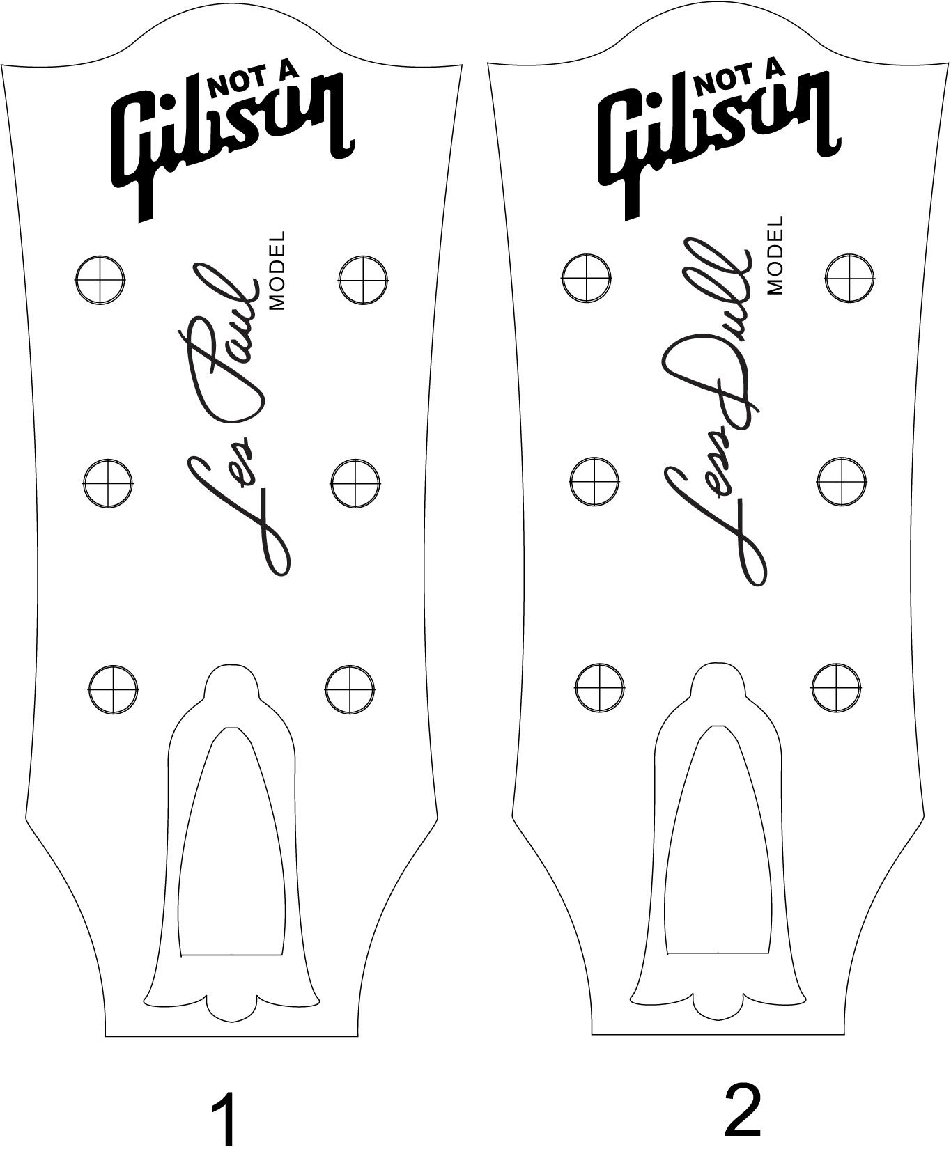 fender bass headstock template - les paul headstock template pdf cerca con google