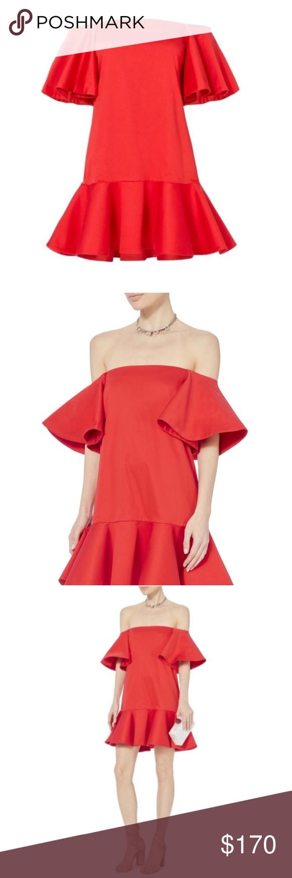 a35980d0fb4 NWT Alexis Red Aliana Shoulder Dress M Alexis Red Aliana Off Shoulder Dress.  With a
