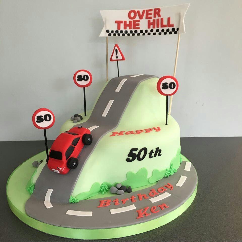 Terrific Over The Hill 50Th Birthday Cake Bmw 50Th Birthday Cake 70Th Personalised Birthday Cards Vishlily Jamesorg