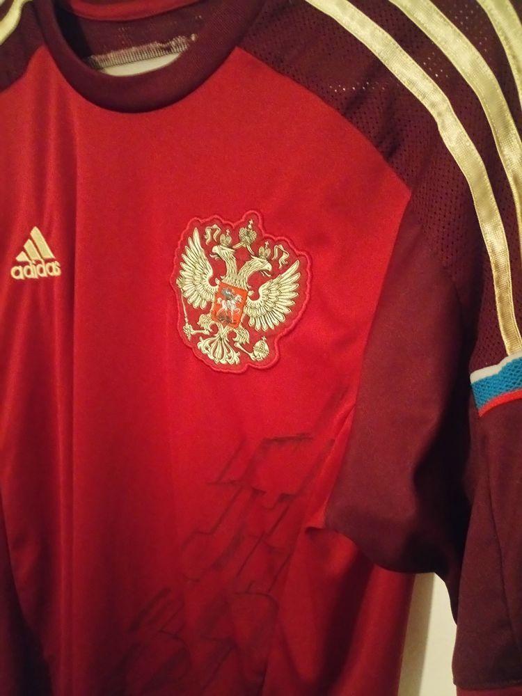 3a755e354 Adidas POCCNR Russia Football ClimaCool Maroon Men's Vtg Hype Jersey Size  Medium #adidas #Jerseys