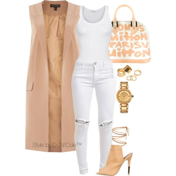 A fashion look from March 2016 featuring extra long shirts, waistcoat vest and slim skinny jeans. Browse and shop related looks.