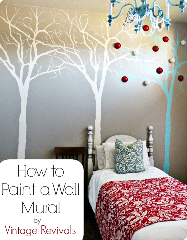 How to paint a wall mural; by vintage revivals!