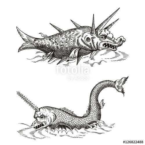 Old Map Sea Monster Google Search In 2020 Monster Sketch Sea Monsters Monster Tattoo