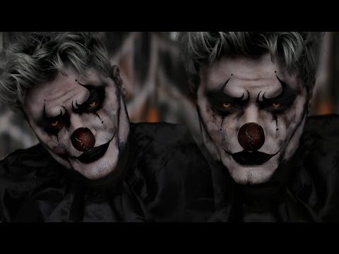 halloween 2016 creepy clown makeup tutorial