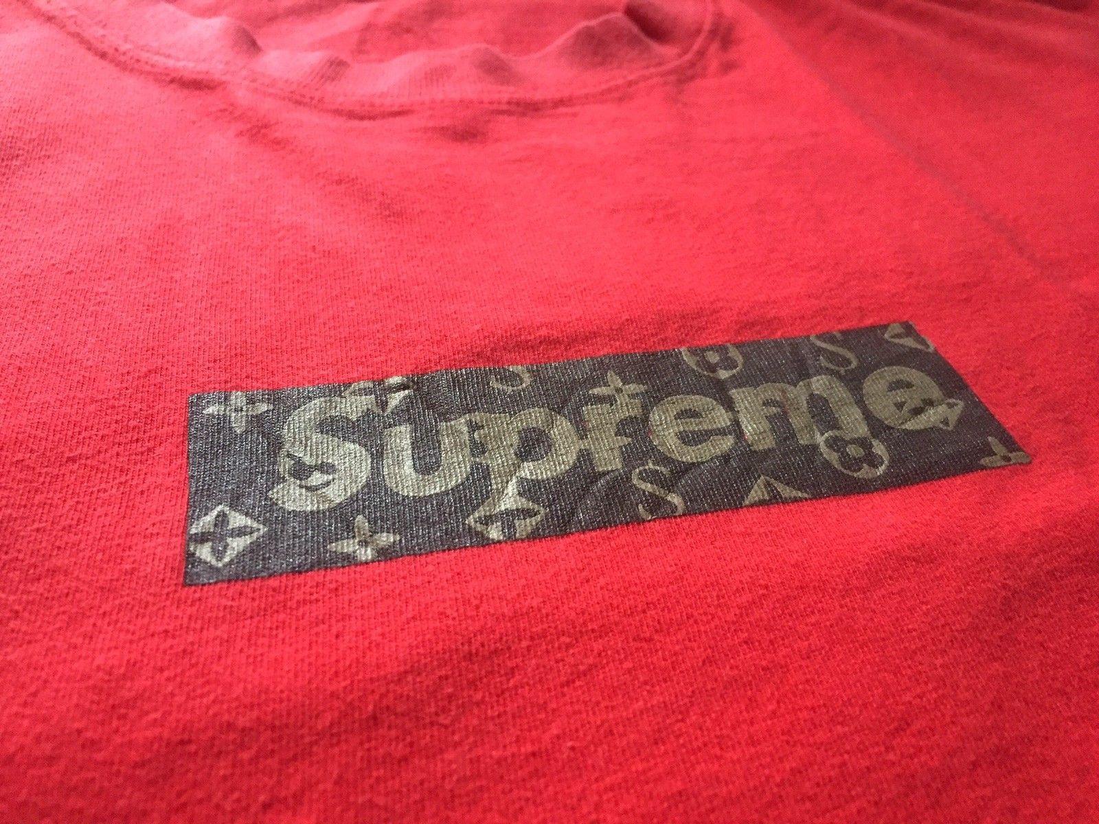 885ab9514d8 Supreme Louis Vuitton Monogram Box Logo Tee CEASE AND DESIST 2000 Sz XL Vtg  LV