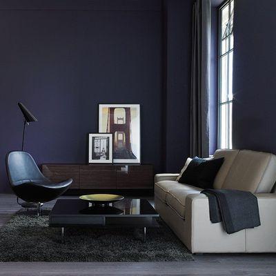d coration int rieur peinture marier les couleurs chambre parents bleu nuit et parents. Black Bedroom Furniture Sets. Home Design Ideas