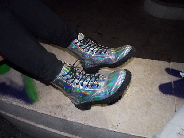 Silver Holographic Doc Martens!