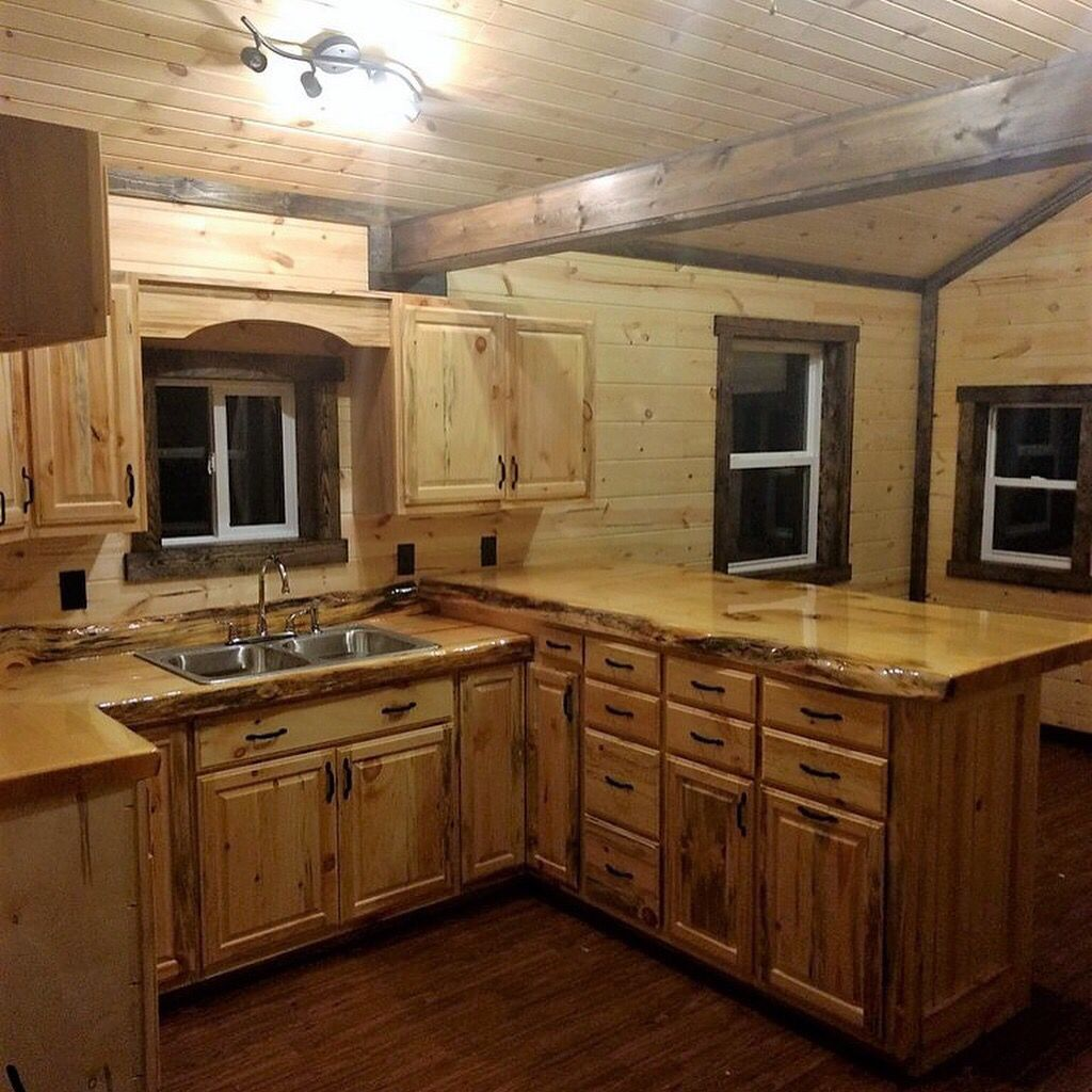 Kitchen #cabin #amish #rustic #tinyhouse #camping (With ...