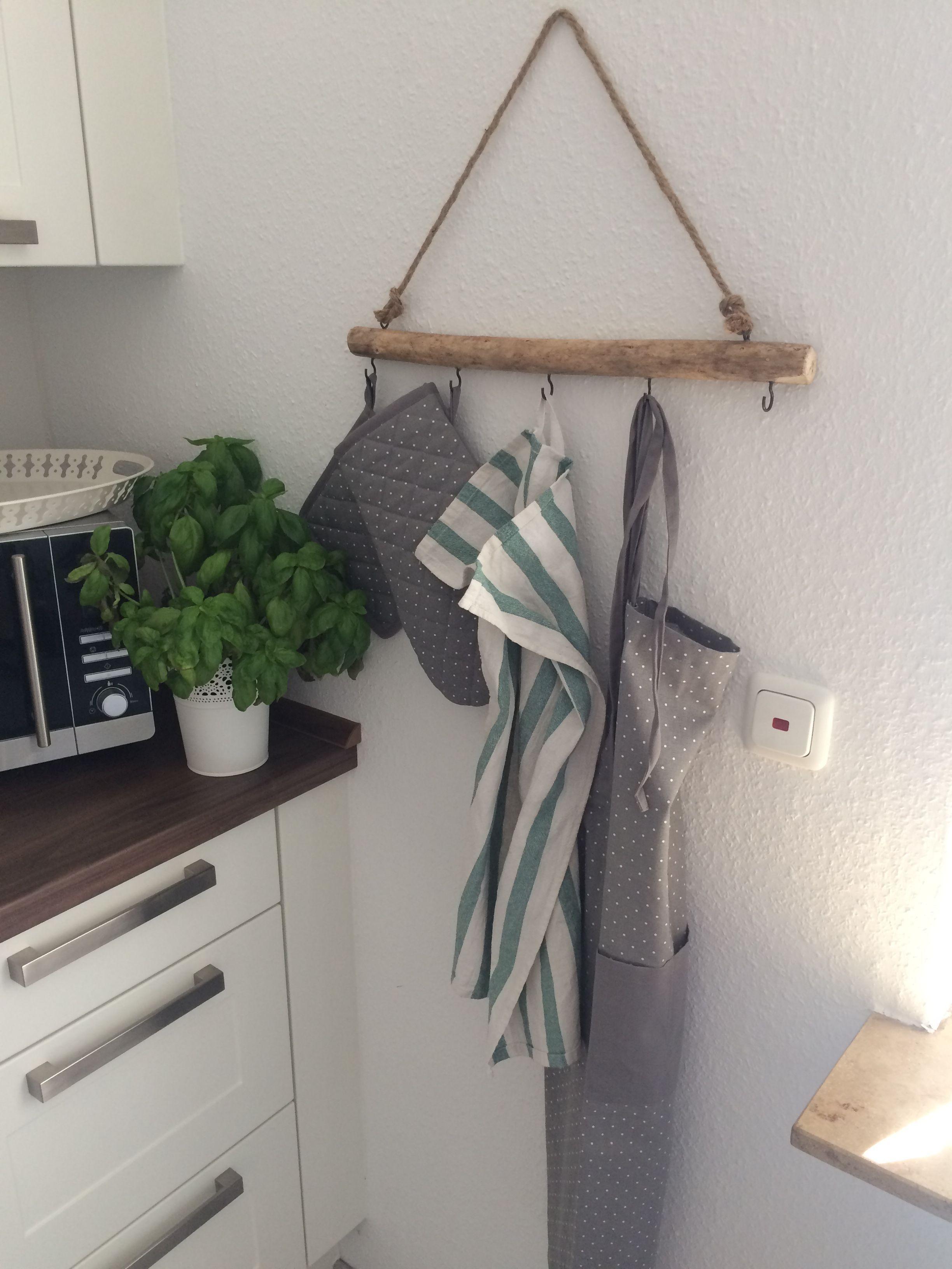 Home Garderobe für die Küche: Ast mit Sisal  Aufbewahrung Garten Ast aufbewahr…