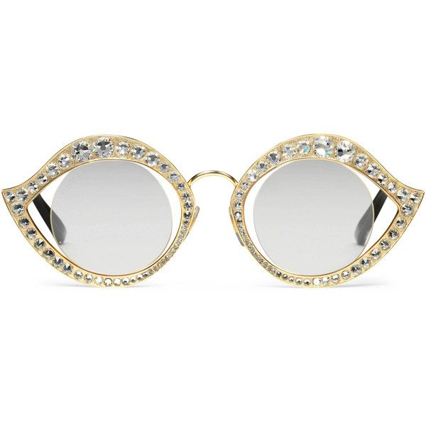 fa3db1fffbc Gucci Cat-Eye Glasses With Crystals ( 675) found on Polyvore featuring  women s fashion