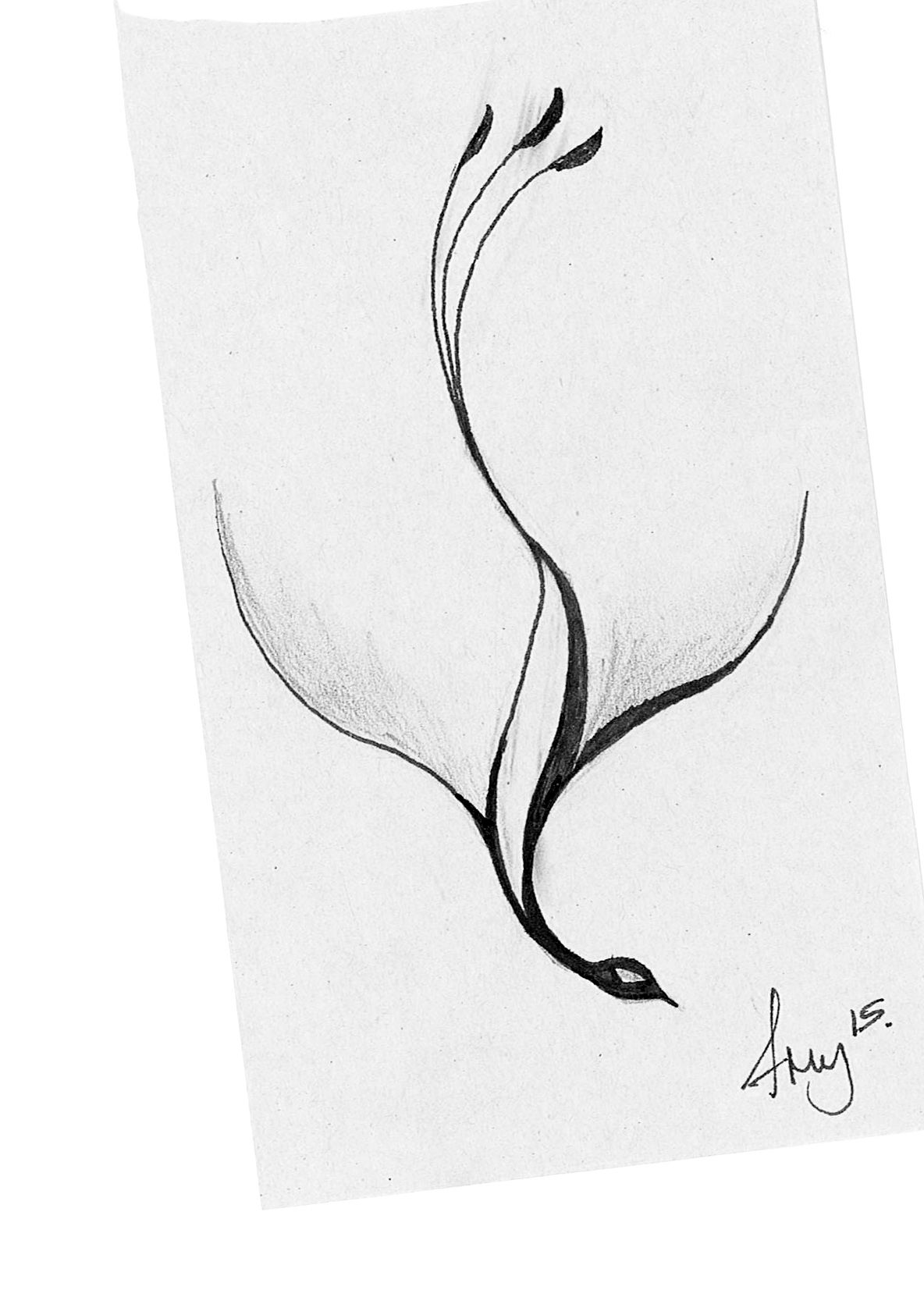 Couldn T Find A Really Simple Phoenix Tattoo So Sketched One Myself