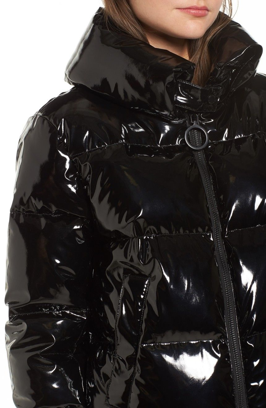 998076cd7 KENDALL + KYLIE Shiny Puffer Jacket | Nordstrom | Puffer coat in ...
