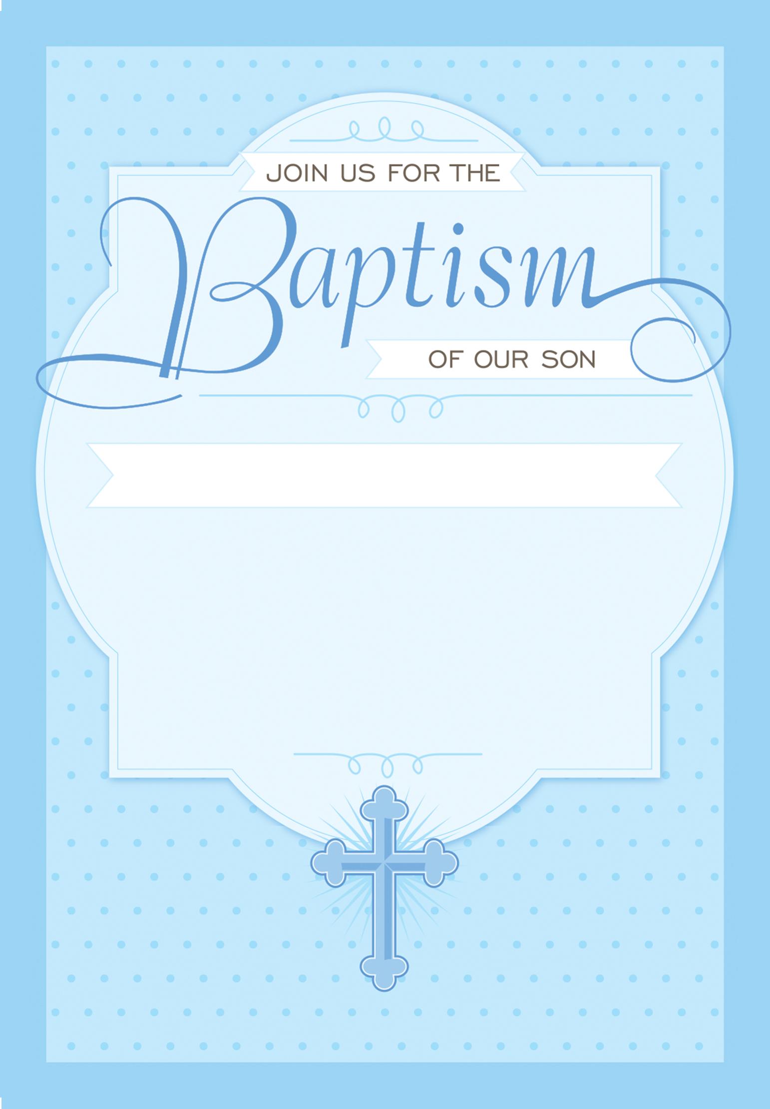 Baptism Card Template