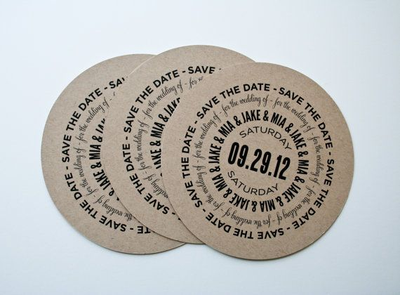 circular wedding save the dates circle invitations country