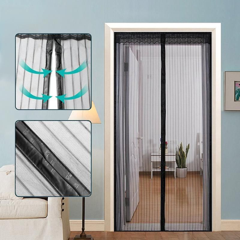 Magnetic Screen Door With Full Frame Velcro Magnetic Screen Door