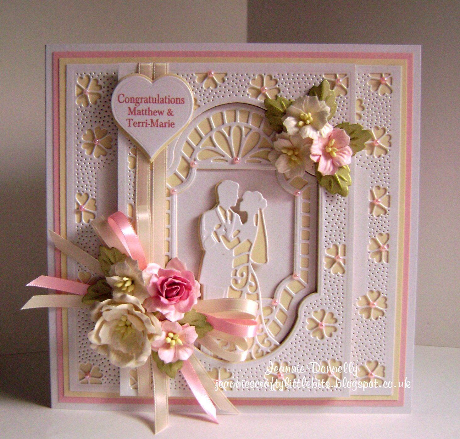 Wedding Day Card Using Creative Expressions Sue Wilson New Zealand Collection Dies Backgro Wedding Day Cards Wedding Anniversary Cards Wedding Cards