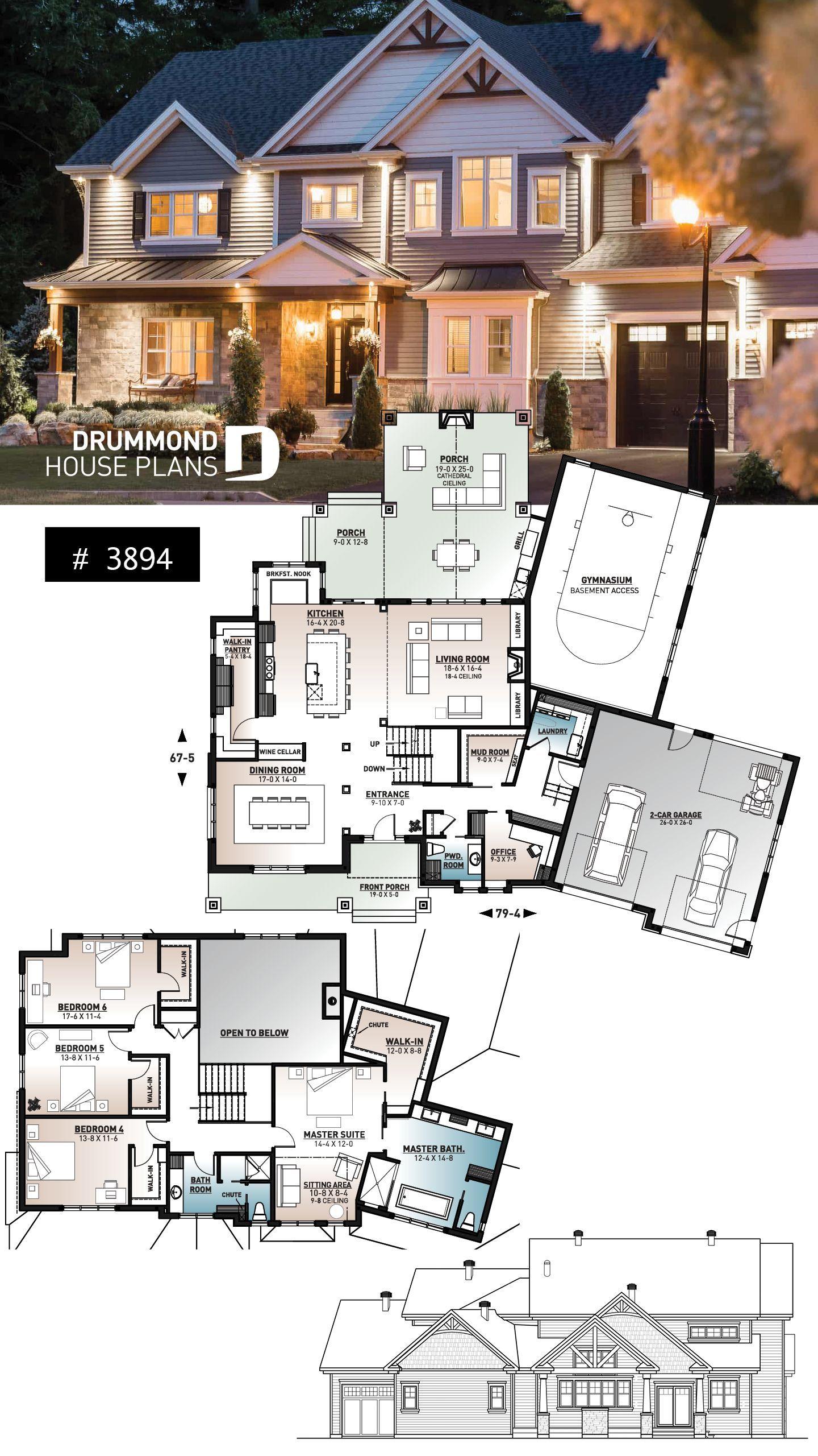 4 bedroom craftsman home design wit…