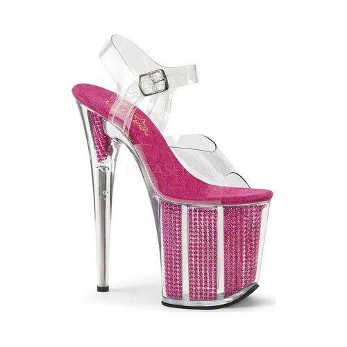Clr//Clr Size 8 Pleaser Womens Stardust-702//C//B Platform Sandal