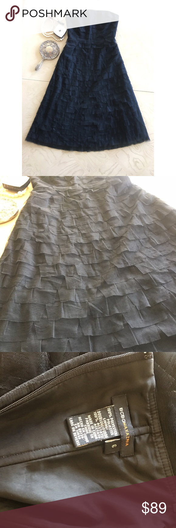 Bcbg tulle mid length dress dark princess mid length and