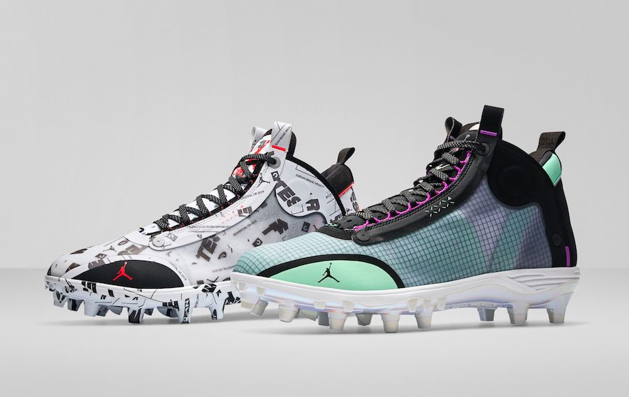 Can You Wear Baseball Cleats For Football Air Jordan 34 Xxxiv Cleats Baseball Football In 2020 Air Jordans Football Cleats Football