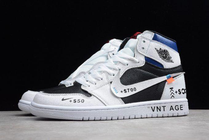 ffd0f278a57b20 2019 Jordan Releases Jordan 1 High OG VNT AGE White Black University Blue-6