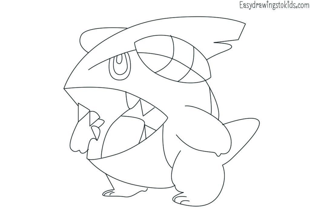Gible Pokemon Drawing Pokemon Coloring Pages Pokemon Drawings Pokemon Coloring