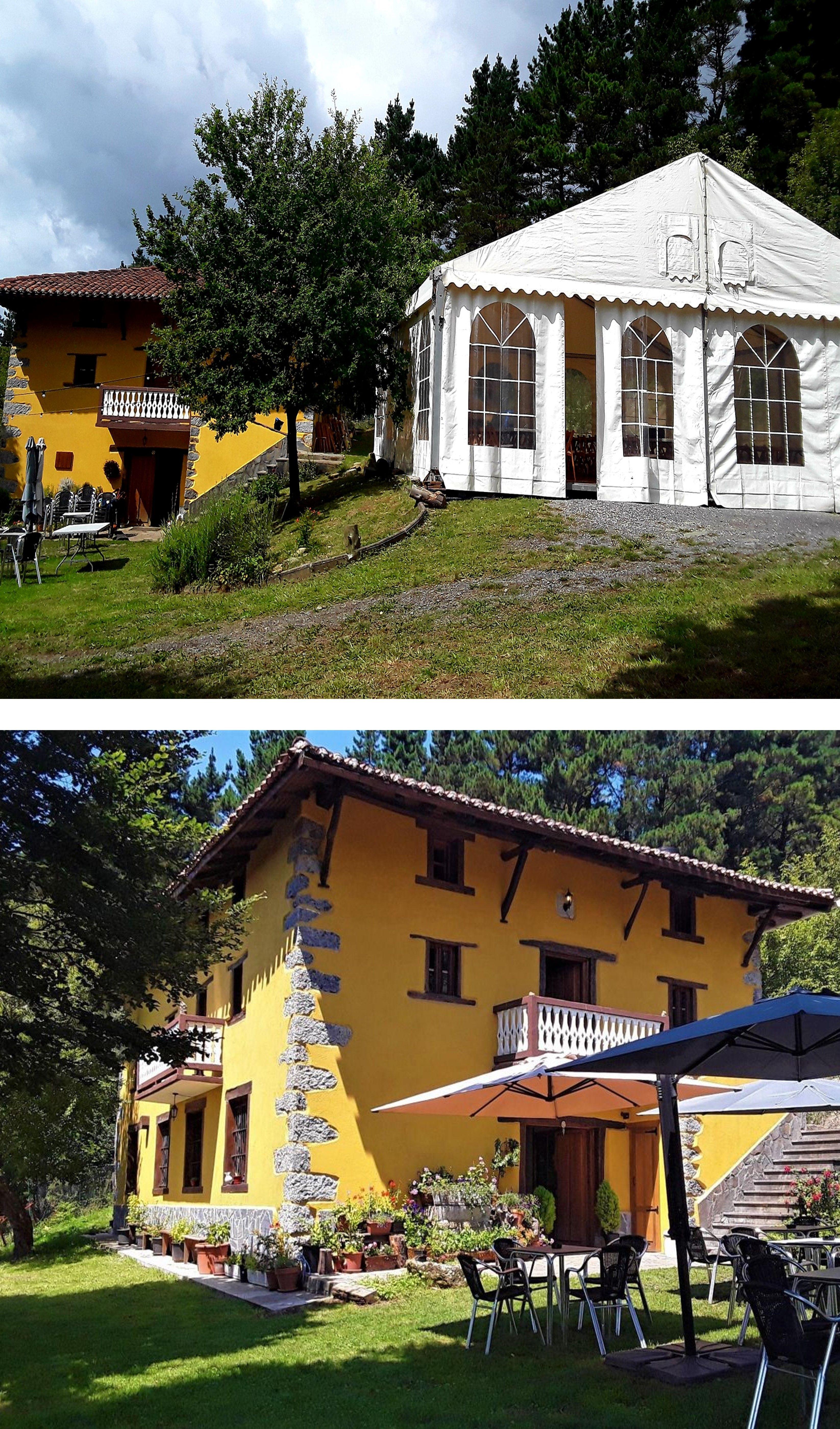 Vizcaya Casa Para Fiestas Bodas Y Eventos En Zebeiro Parque Infantil Y Jardín Con Vistas Casas Para Fiestas Parques Infantiles Estilo En El Hogar