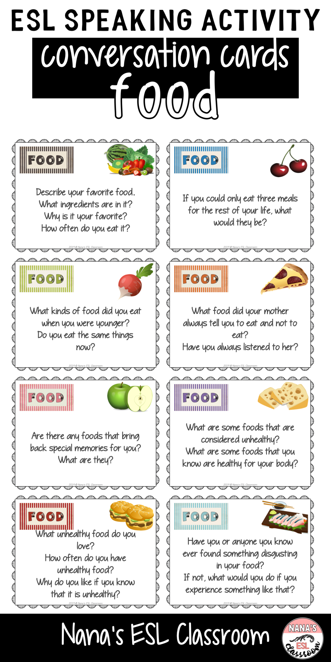 Conversation Starters Cards | Food and Eating Out