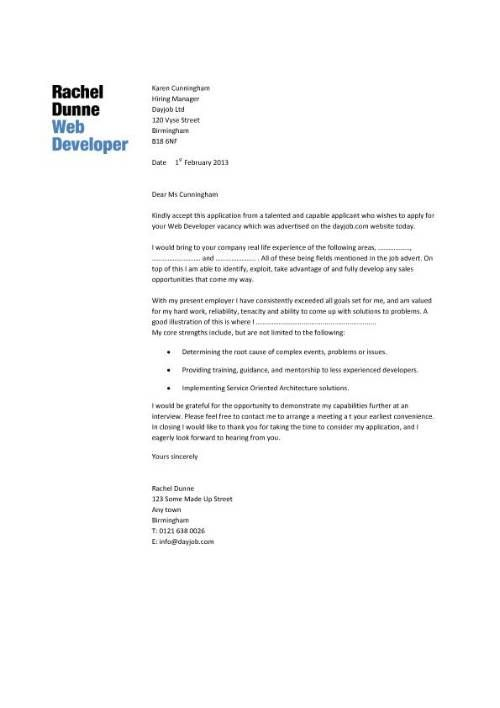 Write Web Designer Cover Letter Using This Design Graphic Amp