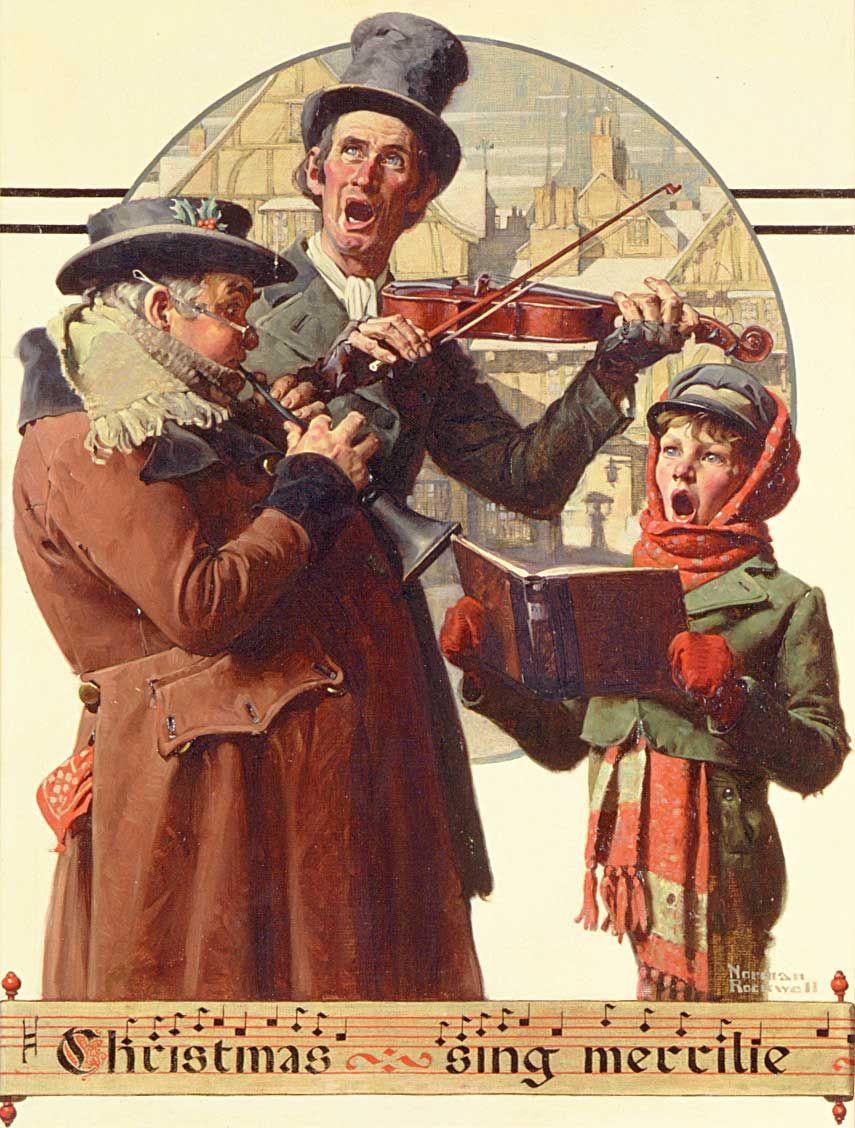 "Norman Rockwell Christmas | Christmas Trio,"" Norman Rockwell, 1923 ..."