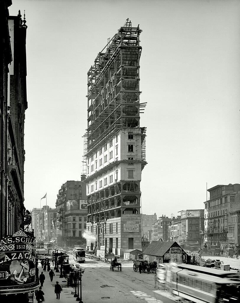 Times Square Under Construction In 1903 In Nyc Vintage New York Zufallige Bilder Stadt Fotografie
