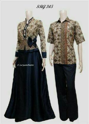 Baju Batik Sarimbit Couple Pasangan Sepasang Atasan Hem Kemeja Pria Cowok  Dress Kebaya Wanita Cewek Couple 63a702f65a
