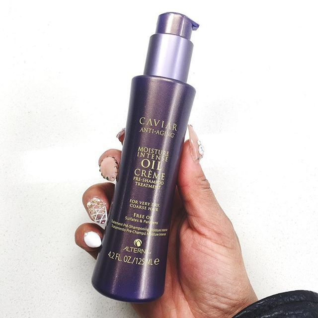 OK I am literally obsessed with this pre-shampoo treatment from @alternahaircare I've never used a pre-shampoo product before. It makes your hair feel sooooo soft & I need that for my damaged hair.  What are some of your favorite hair care products? @sephora #intenseluxury