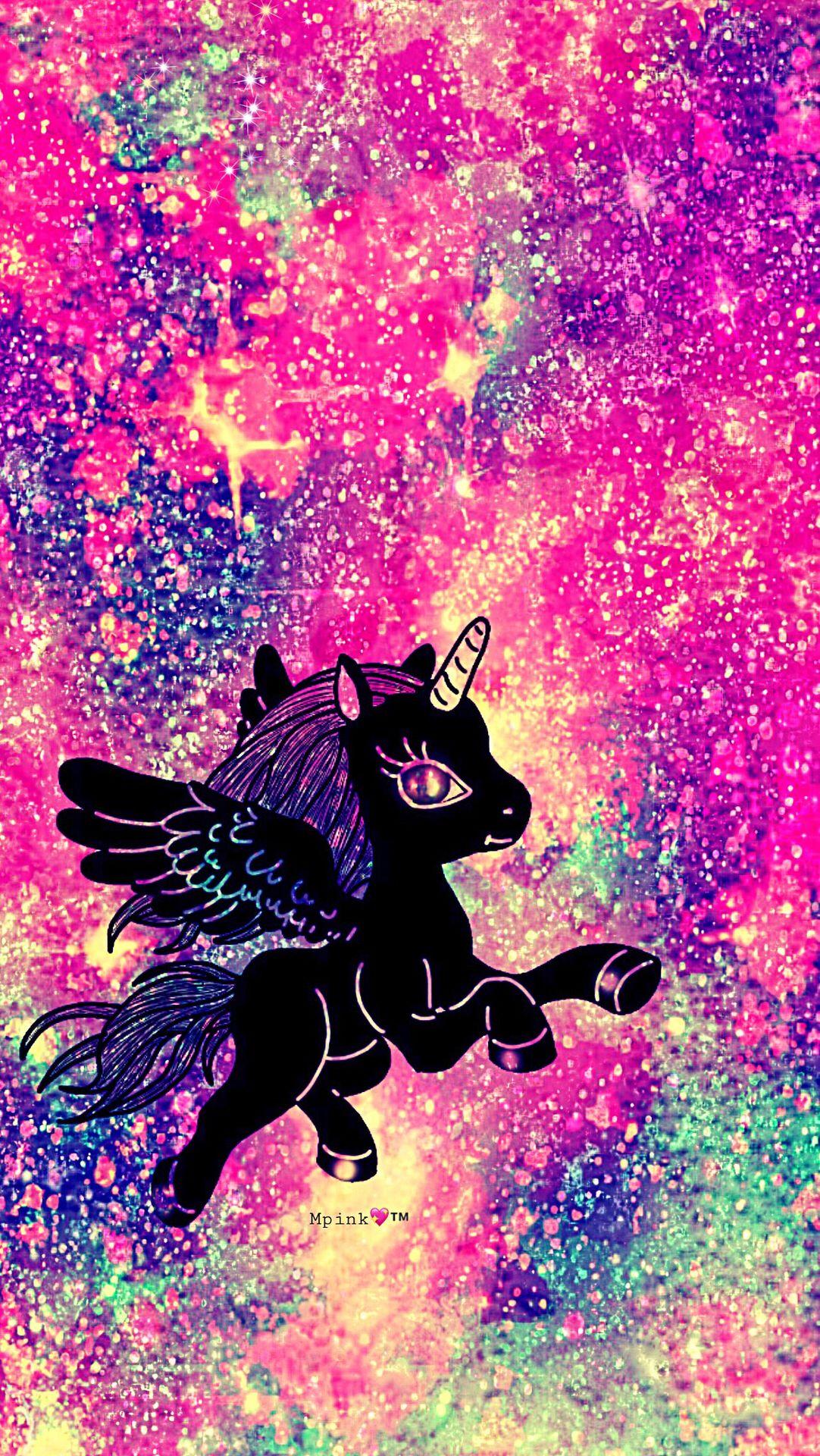Rainbow Unicorn Galaxy Wallpaper Androidwallpaper Iphonewallpaper Wallpaper Galaxy Sparkle Glitter Lockscreen Pretty Pink Cute Girly Unicorn