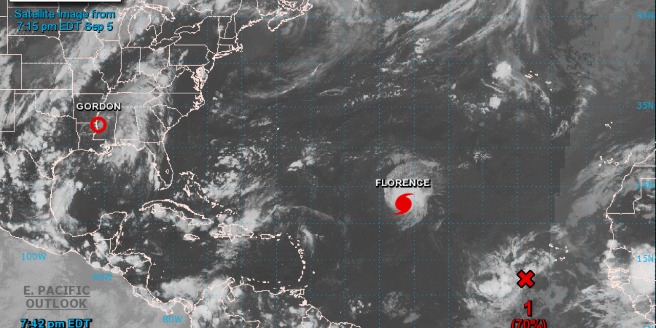 Developing Florence Upgraded To Category 4 Hurricane In Atlantic Category 4 Atlantic Hurricane Florence